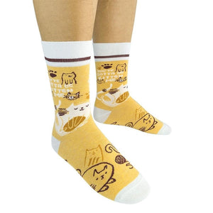 You've Gotta Be Kitten Me Socks - Molly's! A Chic and Unique Boutique