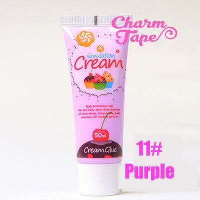 Silicon Whipped Cream 50ml Tube Fake Frosting (Free 3 piping tips) - CharmTape - 14