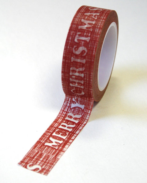 Red Merry Christmas Washi Tape 15mm x 10m WT235 - CharmTape - 2