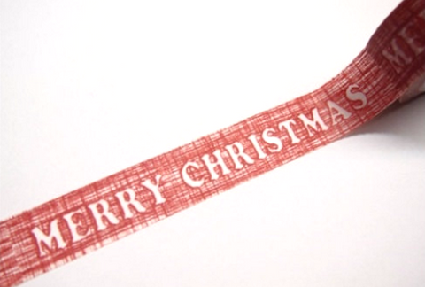 Red Merry Christmas Washi Tape 15mm x 10m WT235 - CharmTape - 1