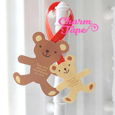 Bear or Gingerbread Man Twist Ties / Birthday Party Favor Bags / Candy Cello Bags / Gift Wrap /(20 / 50 pieces)