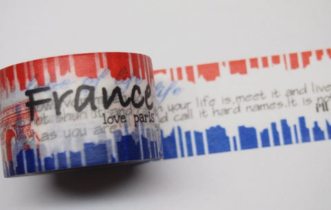 French Landmark Big Washi Tape 30mm x 10 meters WT404 - CharmTape - 1