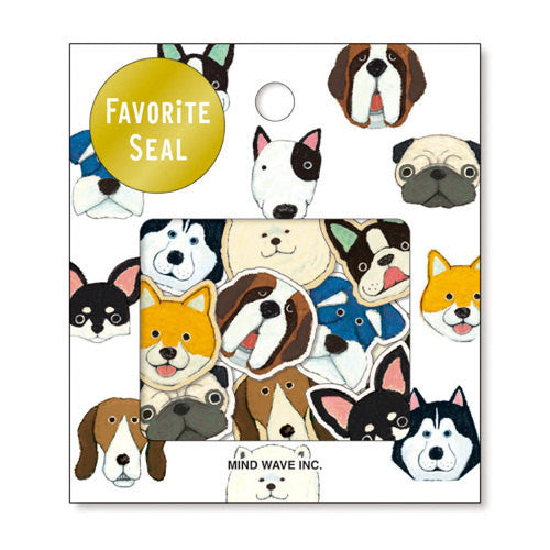 Dog Sticker Flakes Set 70 Sheets Mind wave Japan SS911 - CharmTape - 1