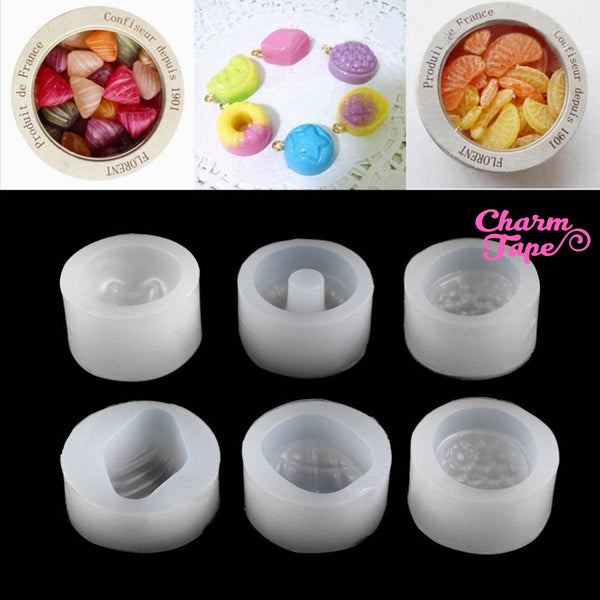 6pcs Fruit Silicon Mold - strawberry Mold - Flexible Clay Mold - Resin silicone mold - Epoxy Resin Mold Q049
