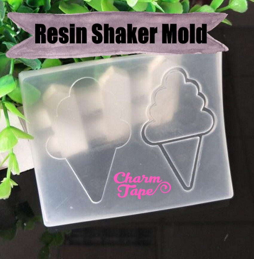 Ice-Cream UV Resin Mold, Resin Shaker Mold, Epoxy, Shaker Mold Silicone Silicon flexible mold S042