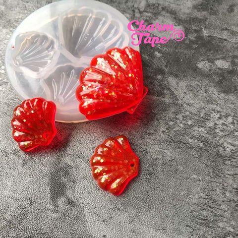 Sea Shells charm Silicon mold flexible, for polymer clay, resin jewelry 010051