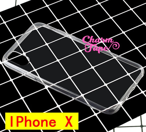 Blank Clear case for Iphone X - Soft Case for decoden diy M017