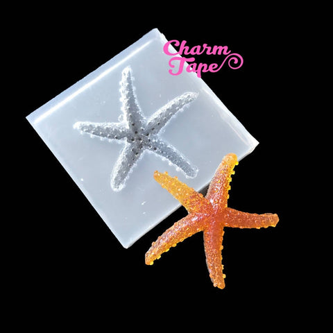 Sea Star Silicon mold flexible, for polymer clay, resin jewelry Q153