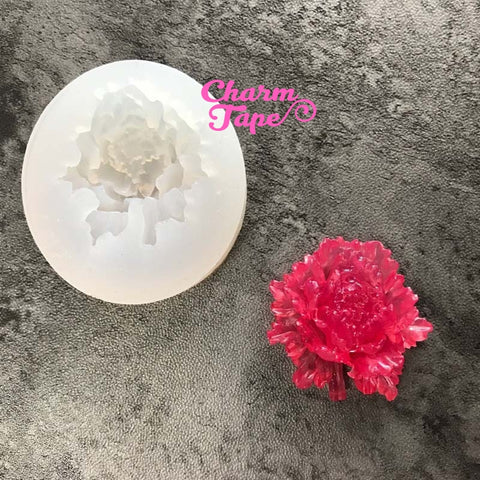 Rose charm Silicon mold flexible, for polymer clay, resin jewelry Q123