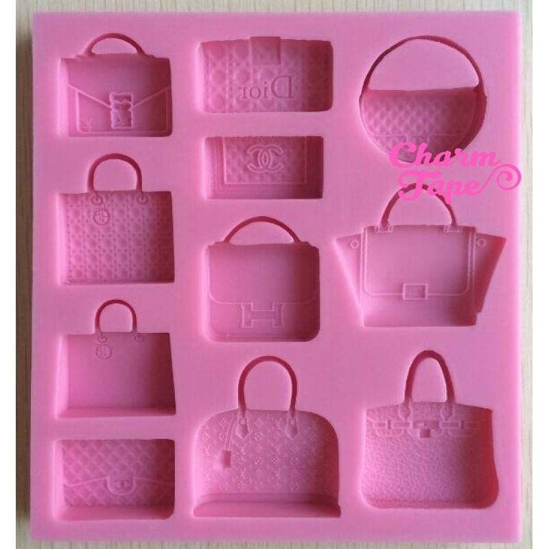 Designer Handbag Silicone Silicon Mold Food Grade for Cake Making D057