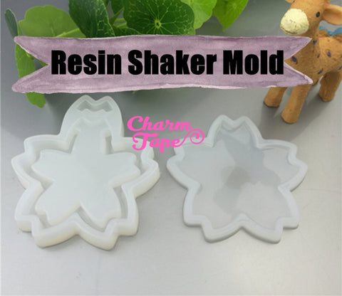 Sakura Cherry Blossom UV Resin Mold, Resin Shaker Mold, Epoxy, Shaker Mold Silicone Silicon flexible mold S003