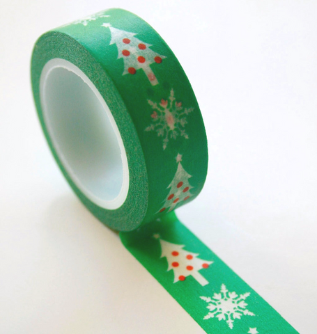 Christmas Tree Washi Tape 15mm x 10M WT196