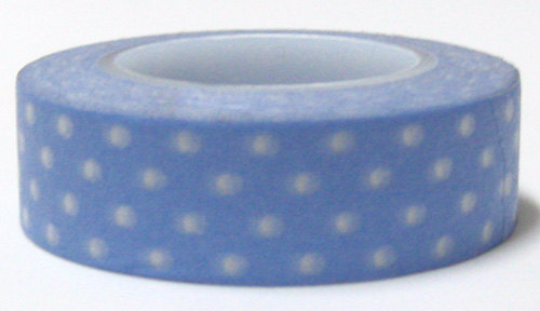 Copy of White polka dots on Grey Washi Tape Roll 15mm WT27 - CharmTape - 1