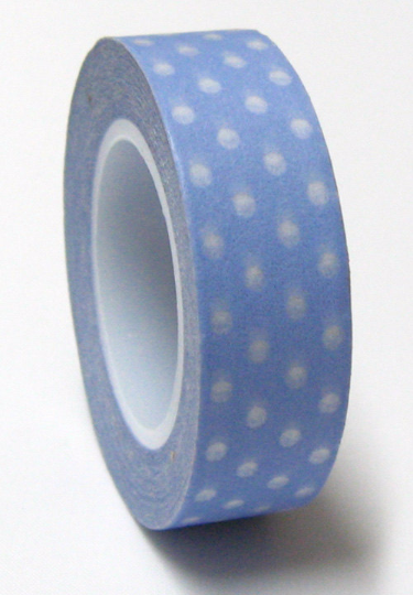 Copy of White polka dots on Grey Washi Tape Roll 15mm WT27 - CharmTape - 2