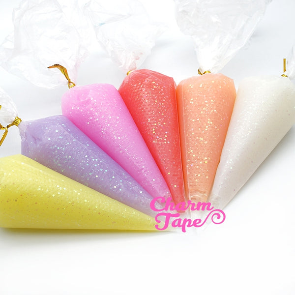 Glitter Jelly Whip Deco Cream - 50ml (Free 1 tip) Fake Frosting