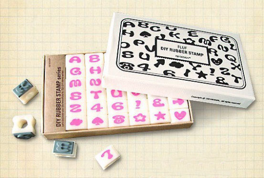 Alphabet Rubber Stamps Uppercase letters (36 stamps) Fluf Front HS008