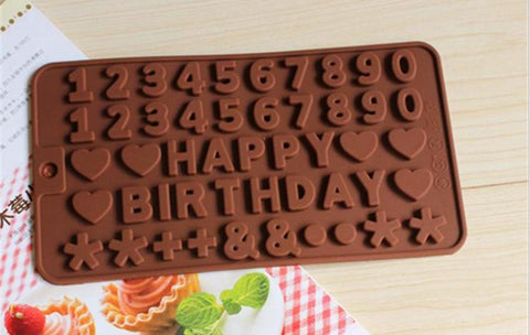 Numbers Silicone Mold Food Grade for Cake Making or Resin Craft L040
