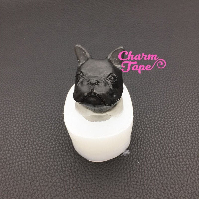 3d Pug Dog Bust Silicon silicone mold for uv resin / Home Decorations flexible mold Z0019