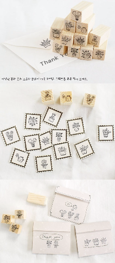 Copy of Cat Stamps Set / Cute Wooden Kitten Stamps Set / Planner Stamps 12 pieces - CharmTape - 3