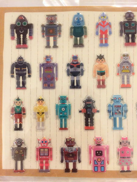 Toy Robot Gel Deco stickers - 1 Sheets SS278