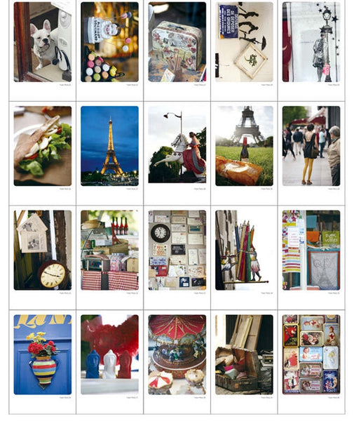 Paris Photo Mini Postcard (Tin Case 40 sheets)