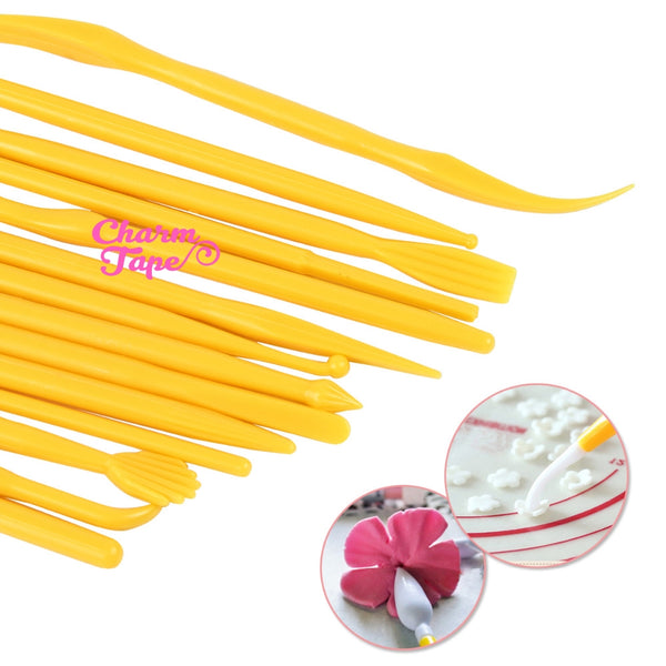 Sculpting Tools Set of 14 Polymer Clay, Fondant Modeling, shaping, sculpt, embossing tools M018