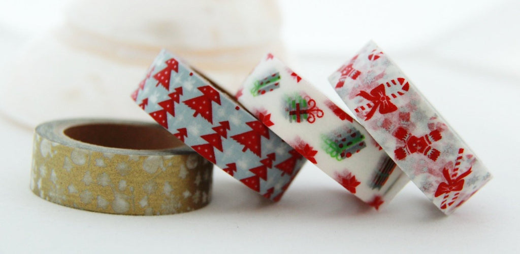 Christmas Washi Tape 4 Rolls Set 15mm WT144
