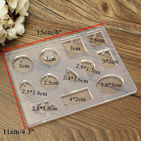 12 Designs Pendant Making Silicon mold charm mold flexible, for polymer clay, resin jewelry Q006