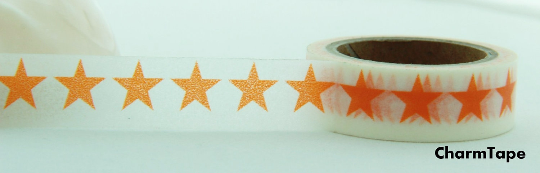 Stars Washi Tape 15mm x 10m WT117 - CharmTape - 7