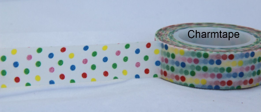 Colorful Polka dots Washi Tape 15mm x 10m WT31 - CharmTape - 5