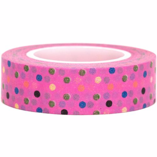 Colorful Polka dots Washi Tape 15mm x 10m WT31 - CharmTape - 6