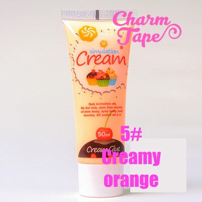 Silicon Whipped Cream 50ml Tube Fake Frosting (Free 3 piping tips) - CharmTape - 10
