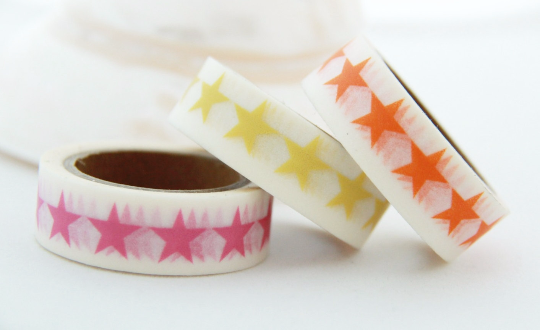 Stars Washi Tape 15mm x 10m WT117 - CharmTape - 3