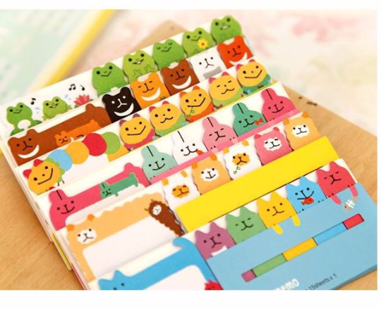 Sunshine & Rainbow Post It Memo Note Pad 90 sheets SS719 - CharmTape - 2