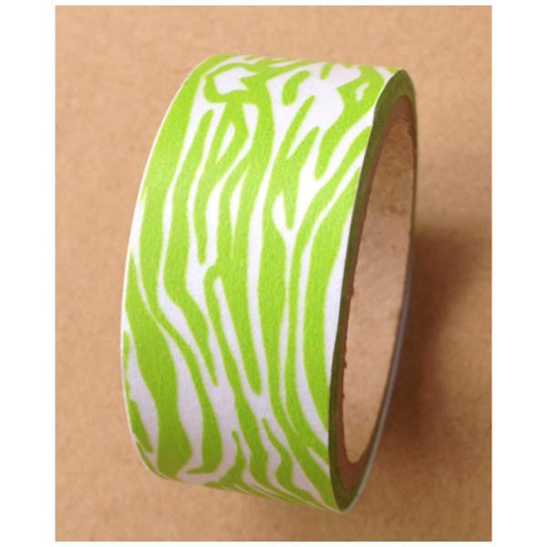Zebra animal Print on Washi tape (15mm x 10m) WT475 - CharmTape - 3