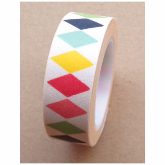 Diamonds Washi tape 15mm x 10m WT476 - CharmTape - 3