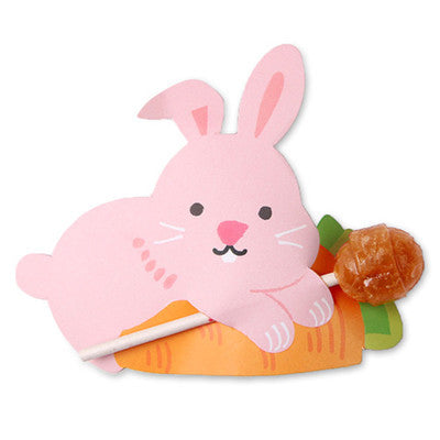 Pink Bunny Lollipop / Pencil Holder - Party Favor - Thank You Gift 48-50 Lollipop Covers