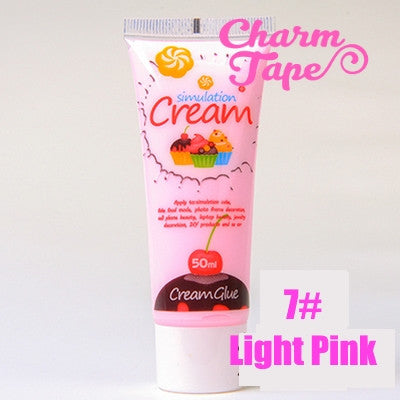 Silicon Whipped Cream 50ml Tube Fake Frosting (Free 3 piping tips) - CharmTape - 11