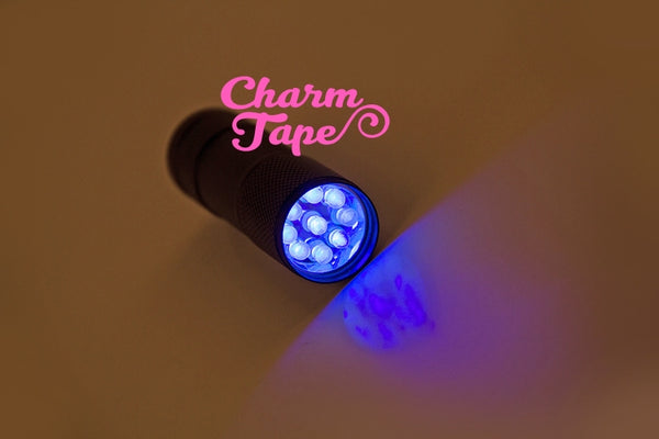 UV Light Flashlight handheld Touch for UV Resin Curing (batteries not included)  - Solid Color (9 LED)