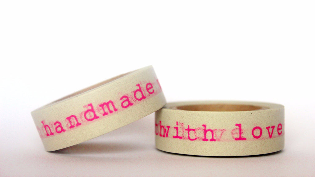 Handmade With Love Washi tape 15mm x 10m WT424 - CharmTape - 1