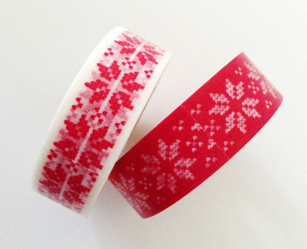 Festive Snow flakes Washi Tape 15mm x 10m WT246 - CharmTape - 4