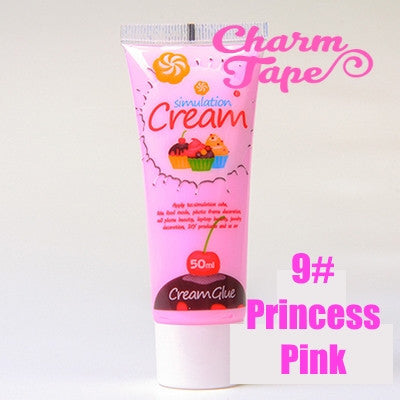 Silicon Whipped Cream 50ml Tube Fake Frosting (Free 3 piping tips) - CharmTape - 13