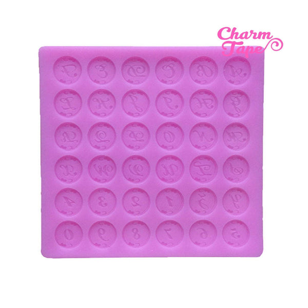 Alphabets & Numbers Silicone Mold Food Grade for Cake Making M094