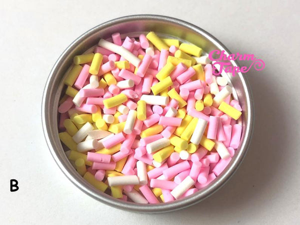 Happy Easter Mix Polymer Clay Confetti Sprinkles Topping Tiny Decoden Miniature Fake Food Funfetti Jimmies 5mm 3g/15g/50g sp515