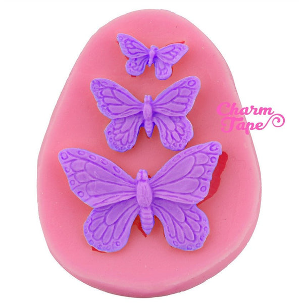 Butterfly Food Graded Silicon silicone mold for uv resin /cake/ fondant flexible mold H2411