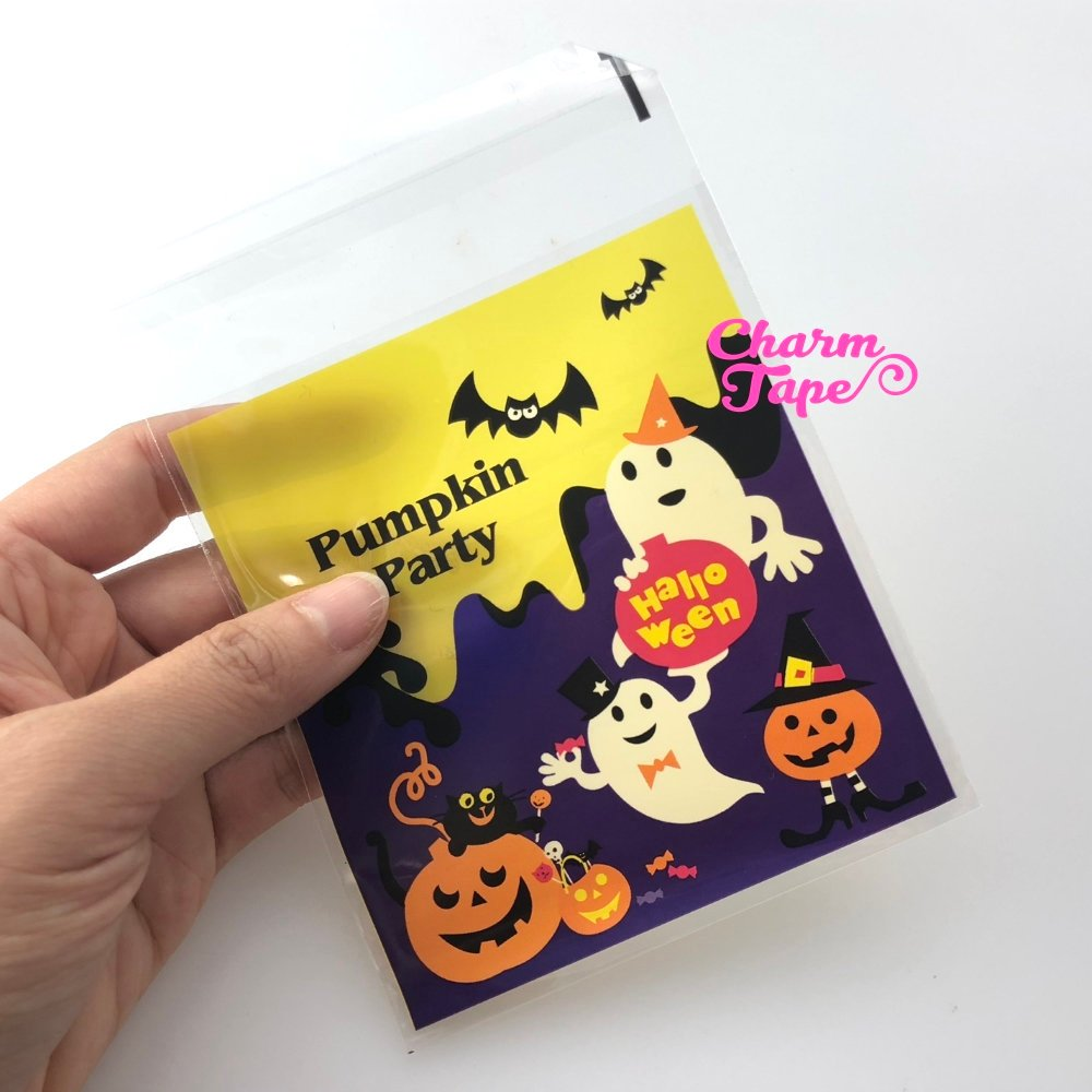 20/50/100 bags Halloween Friendly Ghost Cello Bags // Poly Bags // Self Sealing bags // Party Bags CB79