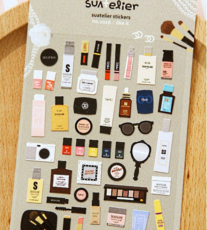 Creams & Lipsticks Deco sticker art stickers - Suatelier 1 Sheets SS1016