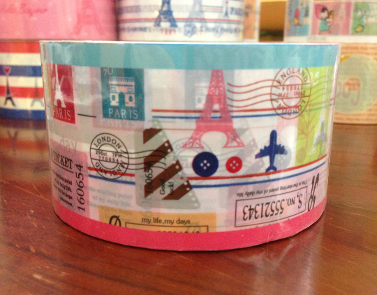 French theme Duct Tape - Eiffel Tower & Keys patchwork 15meters DTB145 - CharmTape - 3