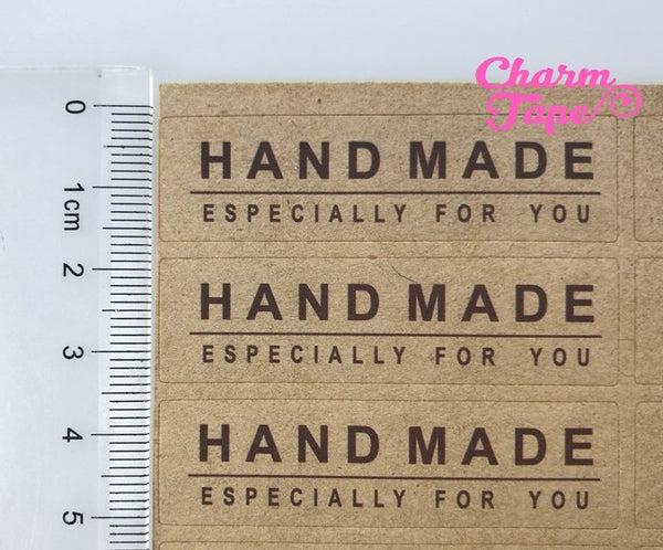 "80/160ct ""HANDMADE especially for you"" 5.5x1.5 Kraft Paper Stickers For Gift Packing Packaging 5/10 sheets GS025"