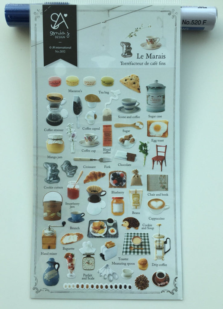 Food & Dessert sticker art stickers by Sonia 1 Sheets SS333 Le Marais